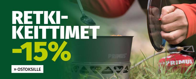 Retkikeittimet -15%